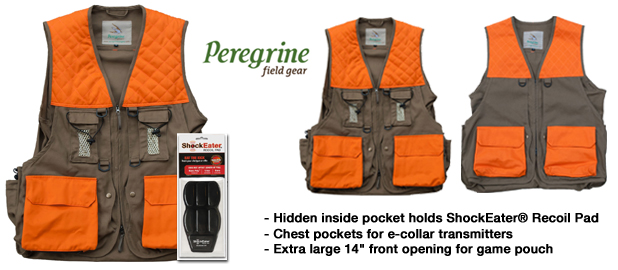 Peregrine Hunting Vests compatible with ShockEater Recoil Pad