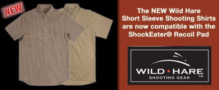 WildHareShootingShirts -ShockEater Recoil Pad