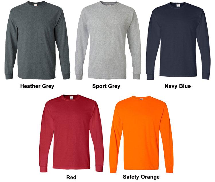 Mens ShockEater Shooting Shirt Long Sleeve Color Chart