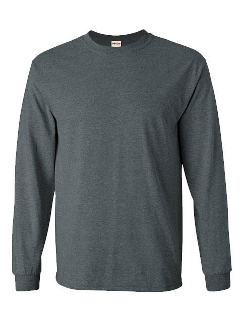 Mens-ShockEater-Shooting-Shirt-Long-Sleeve-Heather-Grey